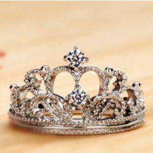 Diamond Princess Crown Ring.